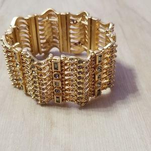 Lia Sophia Gold Sparkly Bracelet